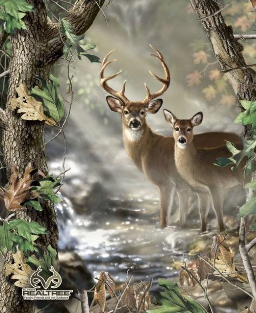 Realtree cotton fabric collection deer bear duck elk for Deer duck fish
