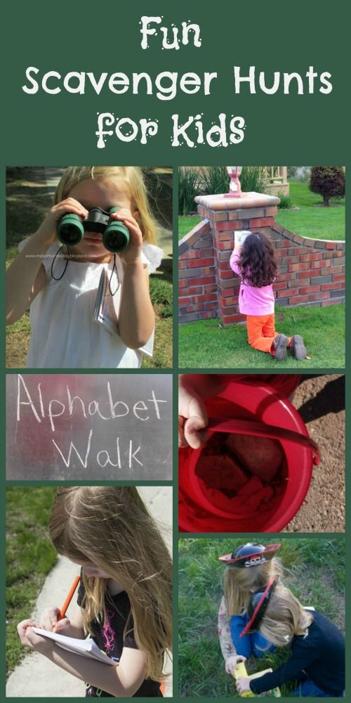Fun Scavenger Hunts for Kids. Give a phoneme/grapheme and they search for things with that phoneme/grapheme.