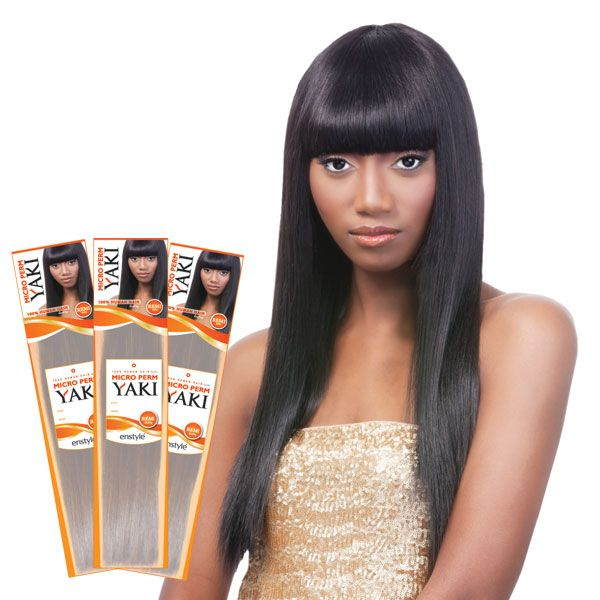 Enstyle 100 Premium Human Hair Blend Micro Perm Yaki 25