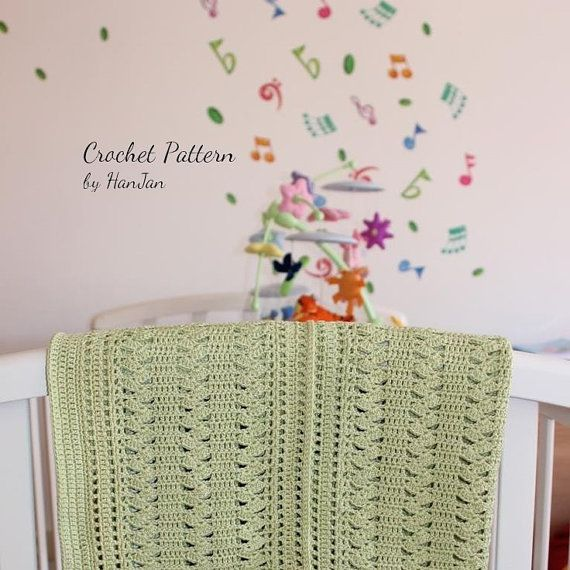 Crochet Patterns Pdf Free Download : Instant Download PDF Crochet Pattern: Gentle Cream Zigzag Baby Blanke ...