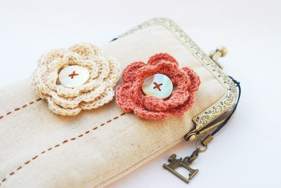 Crocheting Gadgets : iPhone Case iPhone sleeve gadget case Crochet Flower by lazydoll, $34 ...