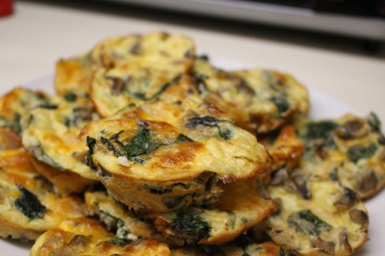 Spinach and Mushroom Crustless Quiche | Foodies | Pinterest