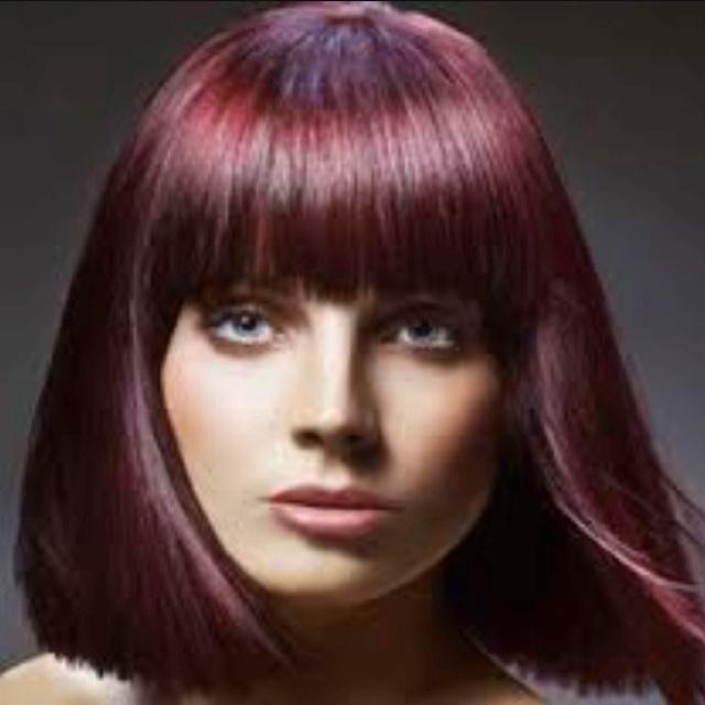 garnet red glows long dark purple red dark red violet hair colorDark Red Purple Color