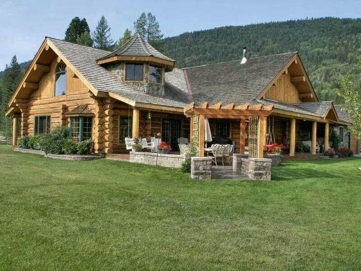 Log Cabin Look Dream Home Ideas Pinterest
