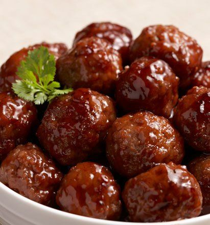 Crockpot Meatballs - the easy grape jelly/chili sauce ones