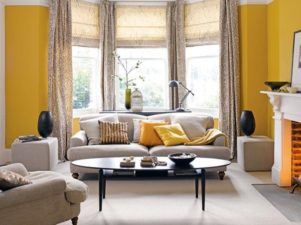 Gray and yellow dream home pinterest for Living room yellow walls