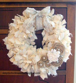 muslin rag wreath - so easy!