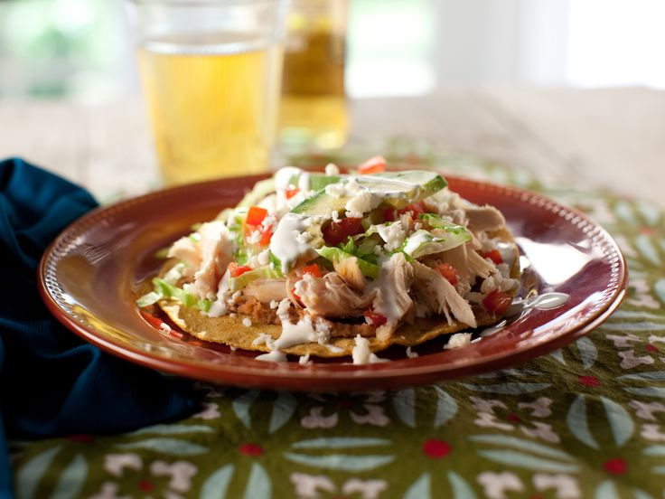 Chicken Tostadas Recipe : Marcela Valladolid : Food Network ...