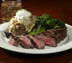 Medium Rare steak and loaded baked potato. | Food | Pinterest