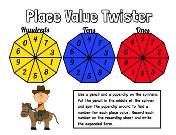 Western Place Value Math Centers