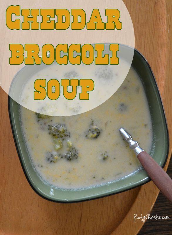 Easy Cheddar Broccoli Soup | Om nom nom recipes | Pinterest