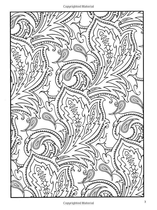 Colouring Patterns Books : Paisley pattern colouring pages