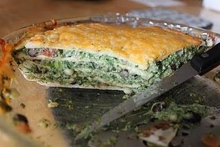 Quesadilla Pie, could add ground turkey or chicken