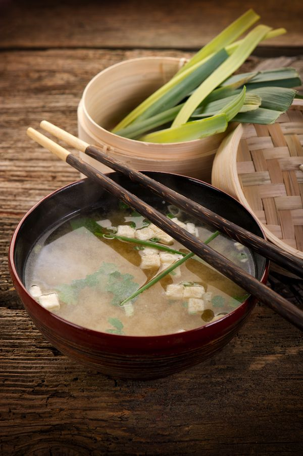 Recipe: White Miso Soup with Tofu. Deffinately need/want to make this