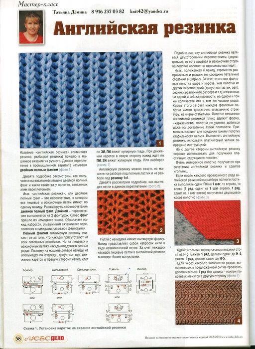 Вязание английская резинка спицами шарф научиться 53