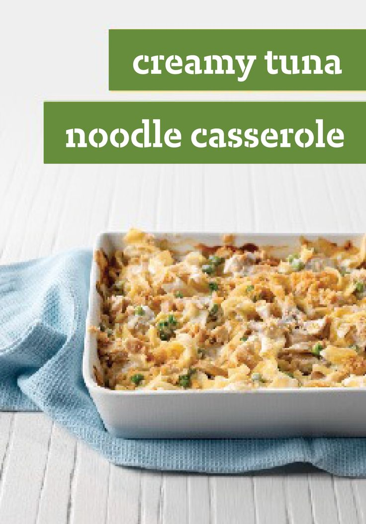 Creamy Tuna Noodle Casserole -- Tuna noodle casserole, evolved. A ...