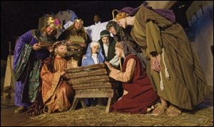 "There is a living Nativity in Asheville called ""Return to Bethlehem"" where you walk down a recreated path through Bethlemhem and hear the stories of those who saw a woman ready to deliver a child just come through town... It's very well done! Can't wait!!"