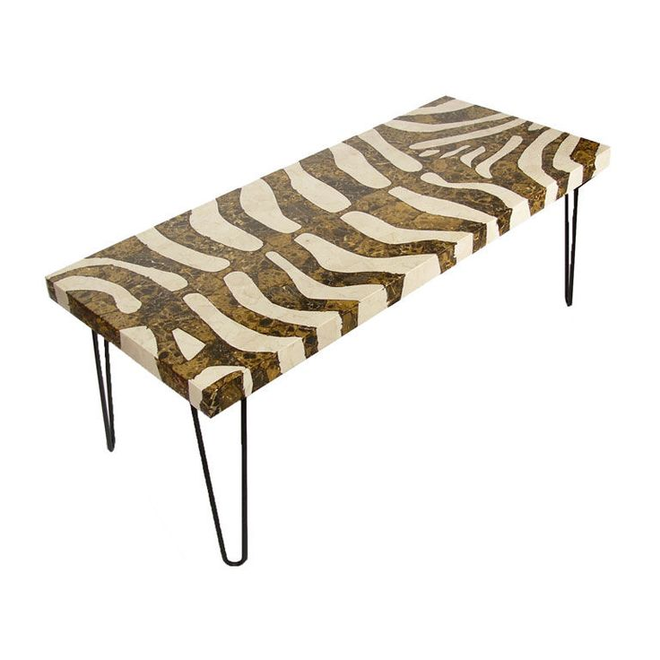 1970s Zebra Coffee Table MESAS TABLES Pinterest