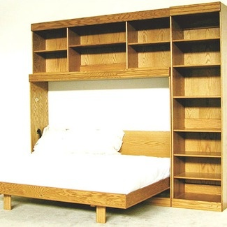 Wallbeds Contemporary Horizontal Twin Murphy Bed