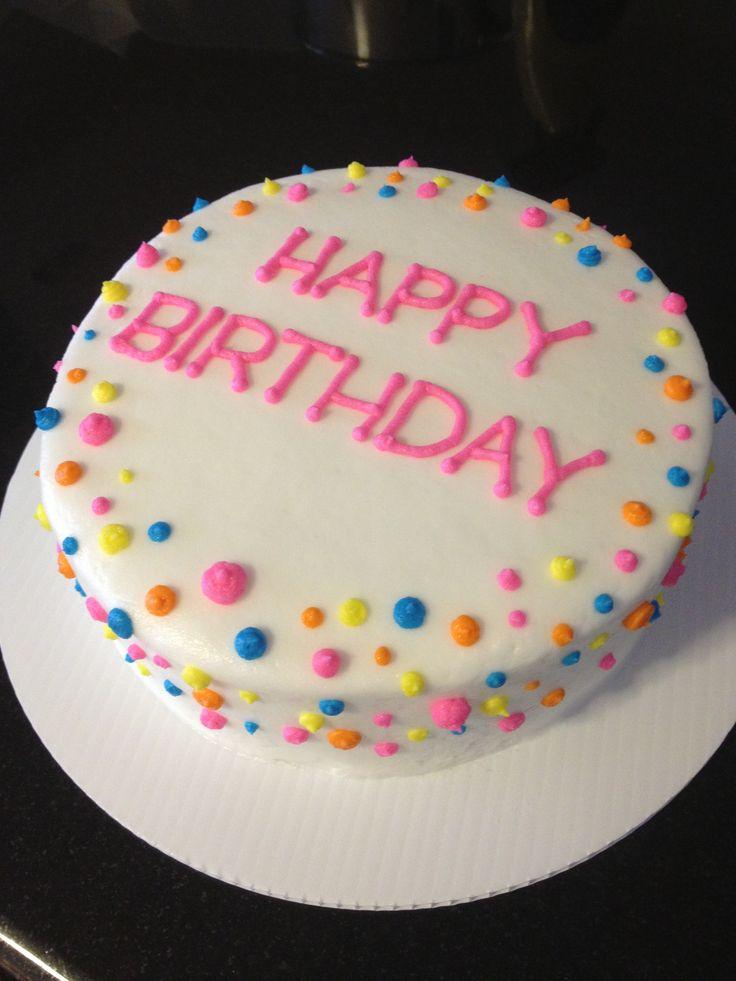 Polka Dot Birthday Cake sweet treats Pinterest