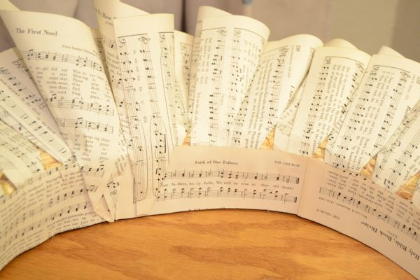 A Hymnal Page Wreath :: Hometalk