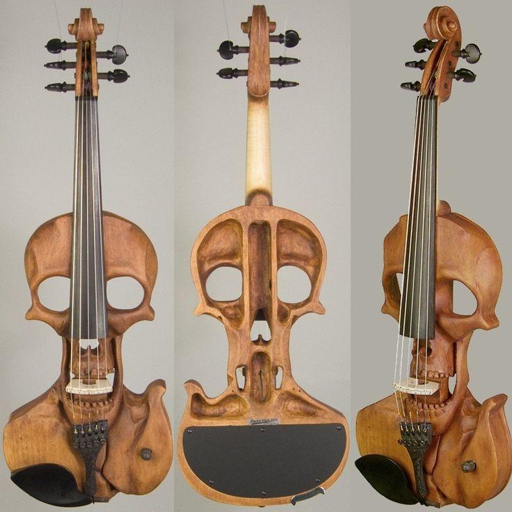 Stratton Skull 5-string Electric Violin, Wood