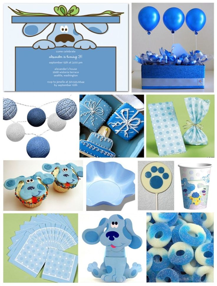 Blues Clues party decor and decorating ideas