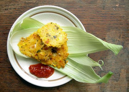 ... spicy corn fritters recipe simplyrecipes com sweet spicy corn fritters