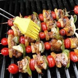 pork tenderloin pineapples, tomatoes, and bell peppers,