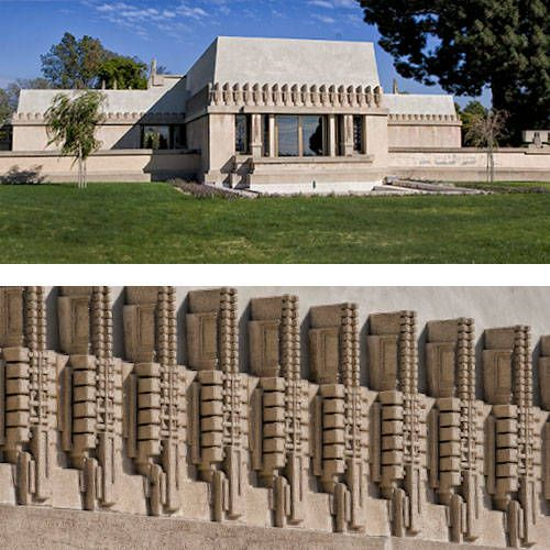 Hollyhock house 1917 ca architecture frank lloyd for Frank lloyd wright houses in california