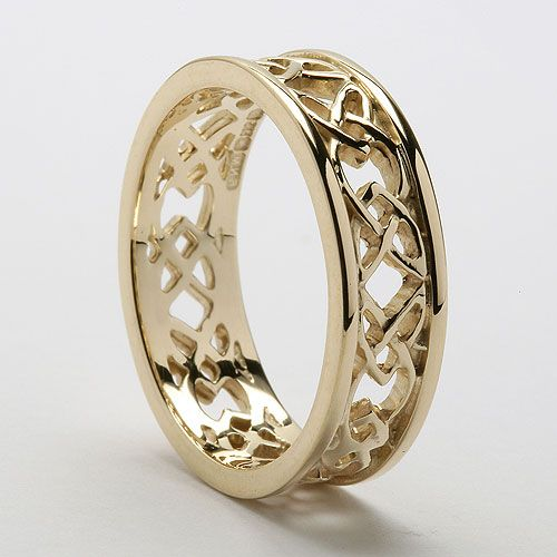 Celtic wedding ring for him white gold though