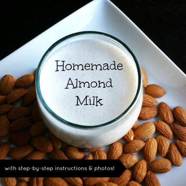 Homemade Almond Milk | Hair & Beauty | Pinterest