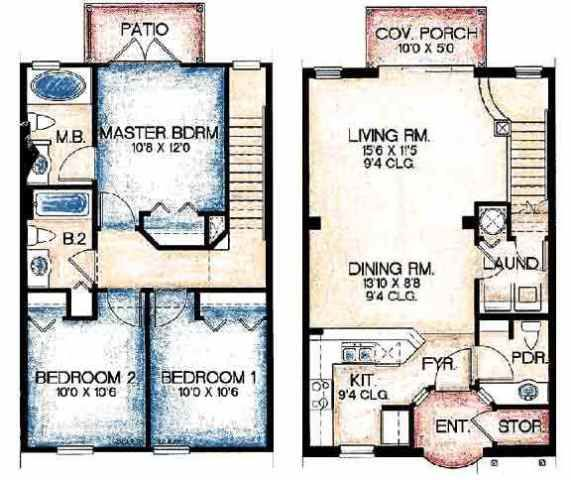 Townhouse floor plans figuring out floor plans pinterest for Townhouse plans