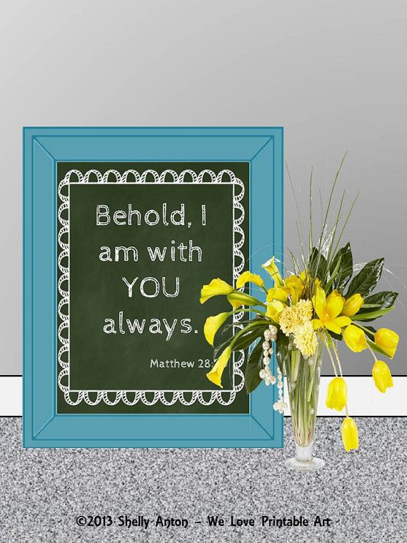JPEG Printable Sign Bible Verse INSTANT by WeLovePrintableArt