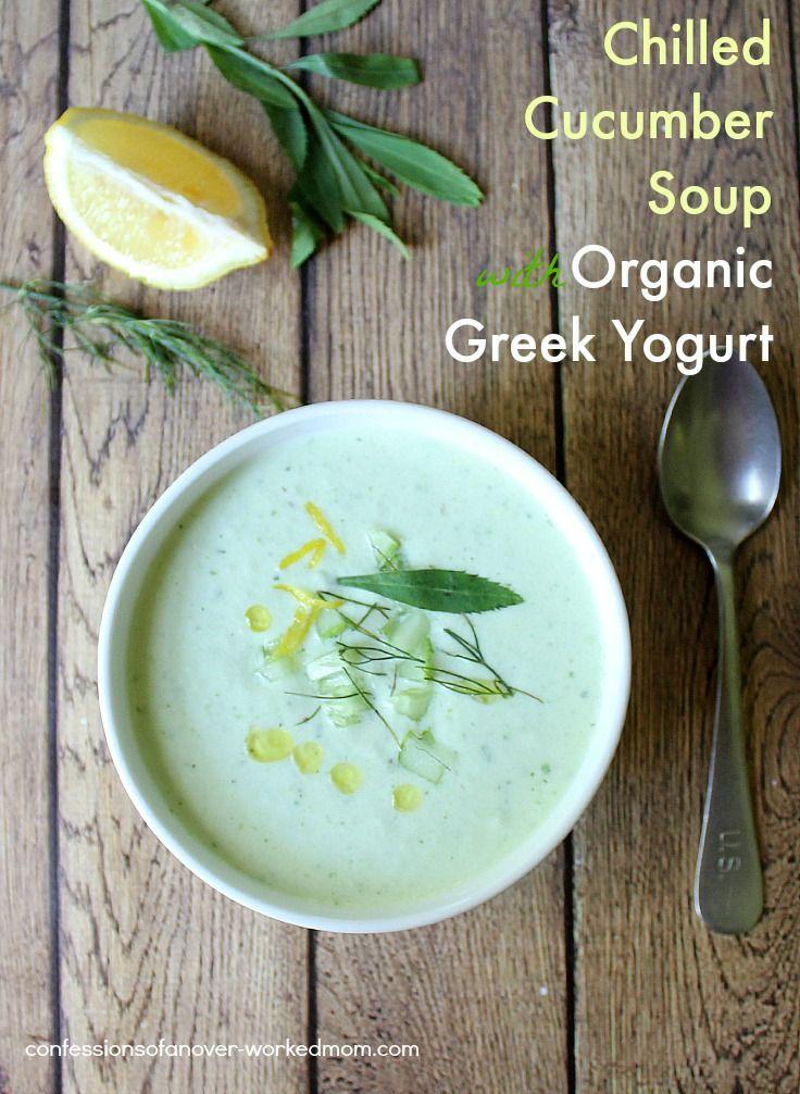 made a Chilled Cucumber Soup with Organic @stonyfield Organic Yogurt ...