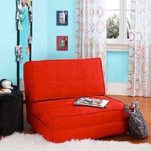 Flip Out Chair Convertible Sleeper Bed Lounger Sofa Dorm