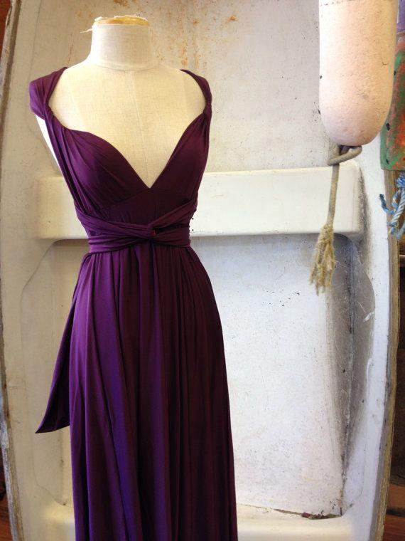 Bali Eggplant Octopus Convertible Infinity Wrap Dress Bridesmaids Weddings
