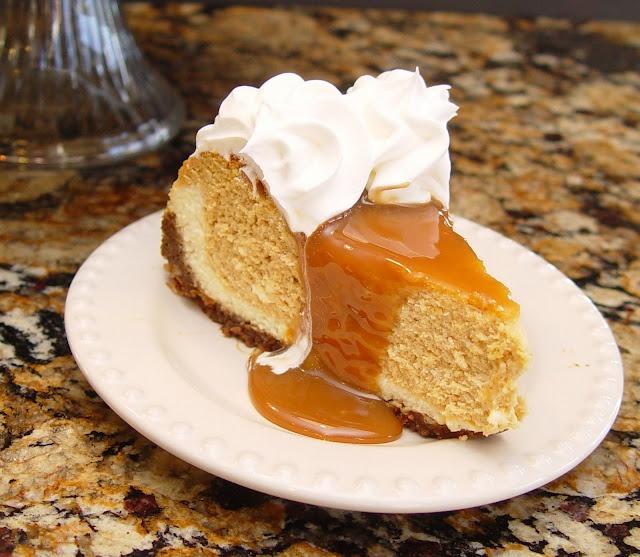 Pumpkin Cheesecake w/Caramel Topping ~ | Pumpkins ~ Cakes, Tortes ...