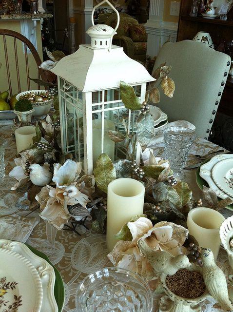 Winter Tablescape Table Decoration Pinterest