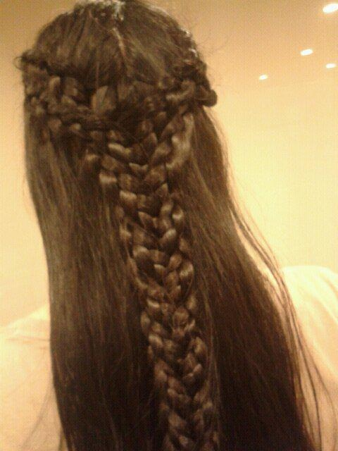 emma stone hairstyle : Elvish hairstyle done for me by my friend...