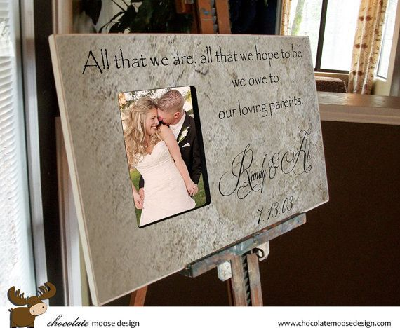 Wedding Picture Frame 12x20 Baby Shower Gift Baptism Gift Parents Gift ...