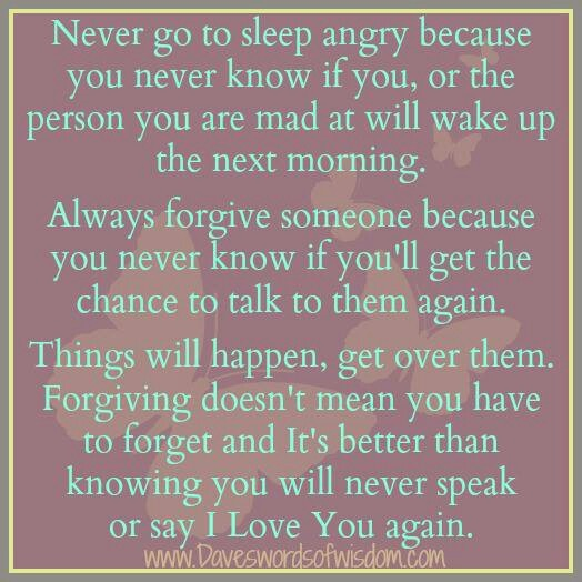 never go to bed angry quote 2