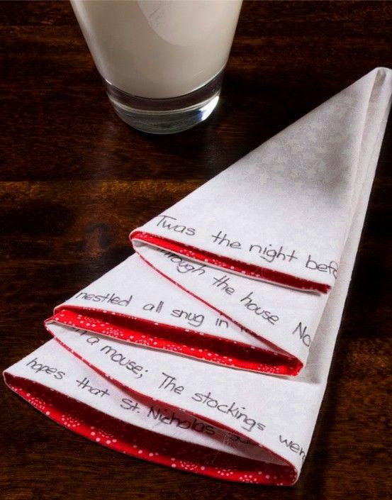 2013 christmas napkin fold ho ho ho pinterest