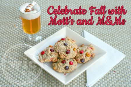 season with some fall baking! I baked up some Oatmeal M&M Fall Cookies ...