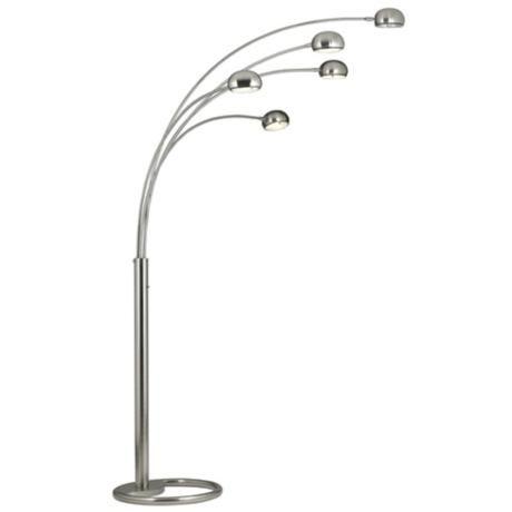 Brushed Nickel 5 Light Arc Floor Lamp 59267