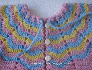 Crochet Baby Jacket Tutorial : Baby Jacket free crochet tutorial baby sweaters Pinterest