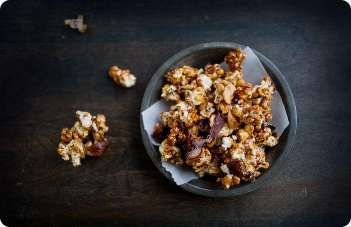 Bacon and Cashew Caramel Corn #popcorn | Popcorn | Pinterest