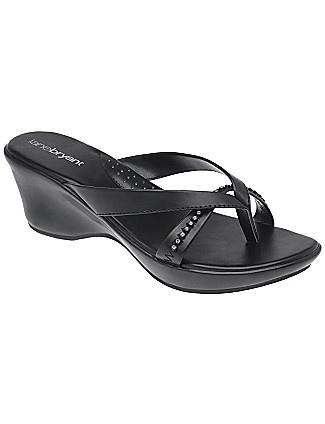 Rhinestone strap comfort sandal