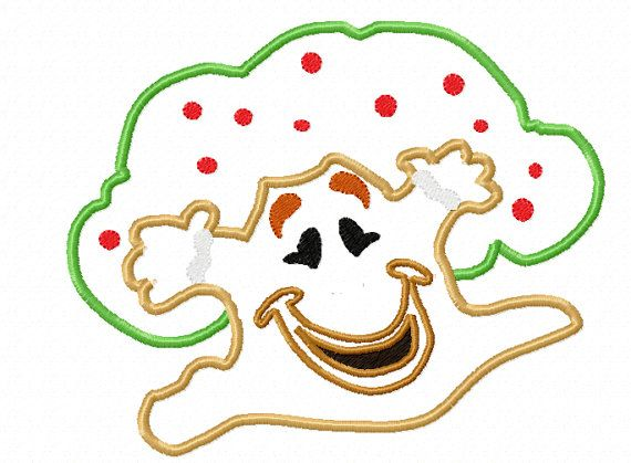 Candyland Game Gingerbread Man Tree Applique by EmbroideringQueen, $2 ...