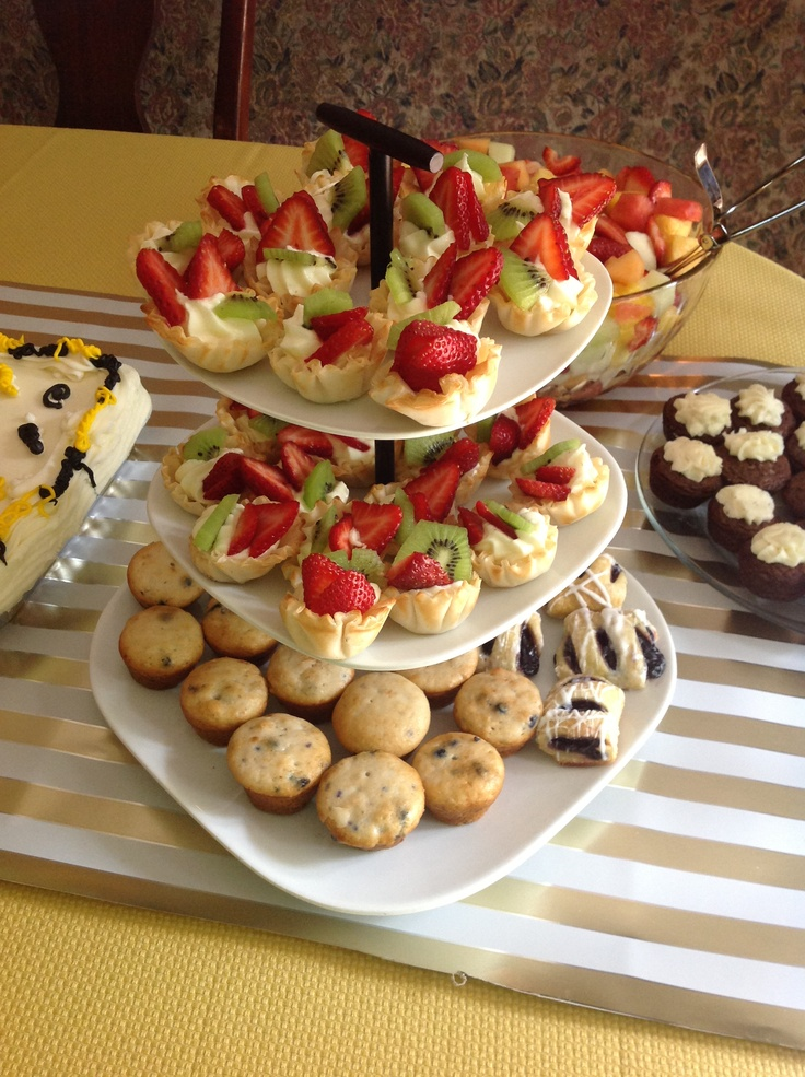 Phyllo dough cups with cream cheese fruit dip and fruit easy